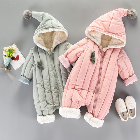 Infant Girl Winter Romper