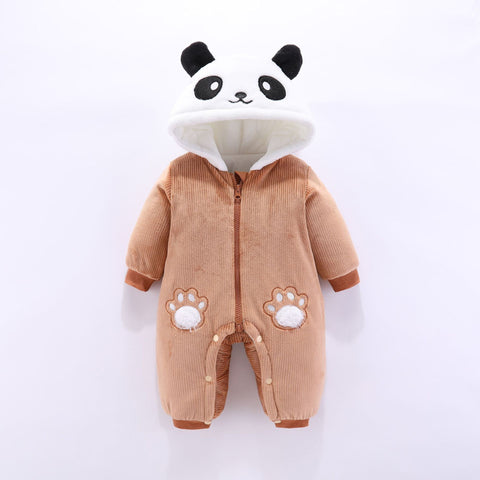 Baby Warm Hooded Romper Coats