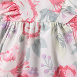 Baby Girl Rose Ruffle Sleeve Floral Dress