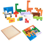 Creative animals Wooden 3D Blocks - Debbie's Kids Boutique