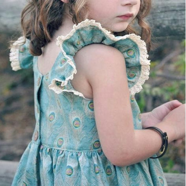 Girls Trendy Ruffle sleeve Dress