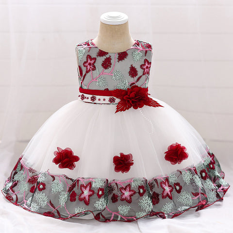 Infant Baby Girl Dress Lace Tulle Baptism Dress