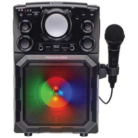 Karaoke USA GQ410 Portable MP3 Karaoke Player with Bluetooth, PA, and Built-In Battery