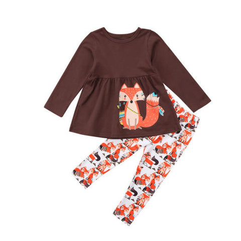Curious Fox 2 pcs outfit - Debbie's Kids Boutique