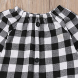 Girls Plaid 2pcs outfit