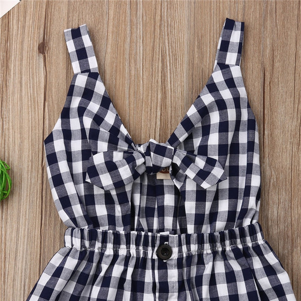 Little Girl Strappy Plaid Dress