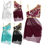 Girls Gymnastics leotard and Shorts Mesh Skirt