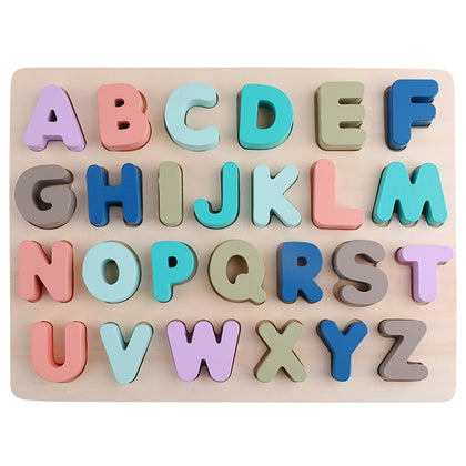 Alphabet Shape Matching Math Puzzle