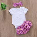Daddy's Little Peanut 3 pcs romper set