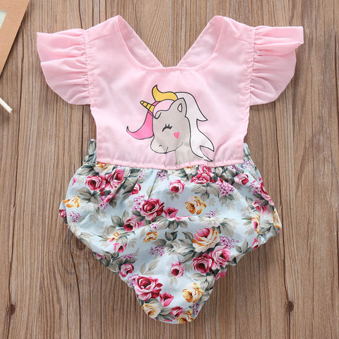 Lovely Unicorn Baby Romper