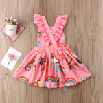 Ruffles Back Party Dress - Debbie's Kids Boutique