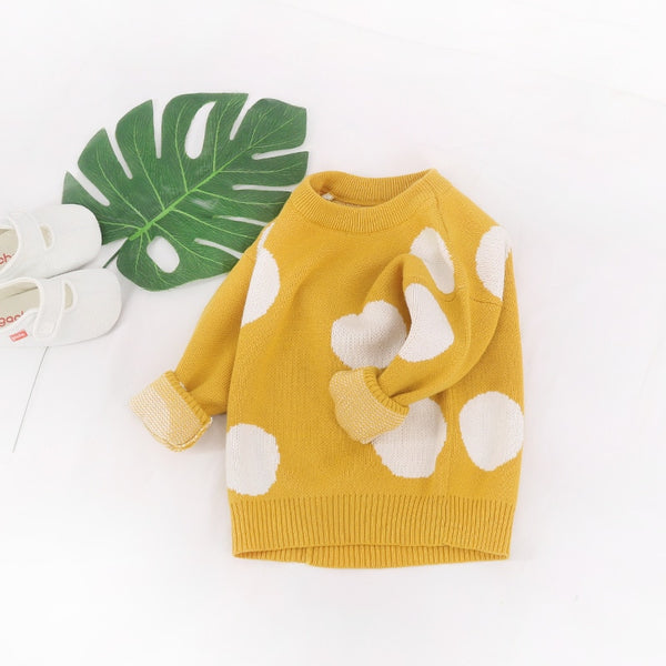 Girls Pull Over Knitted Sweater