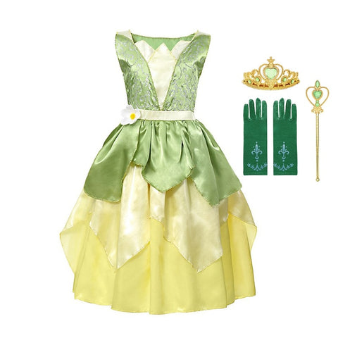 Halloween Dance Party Tiana Costume Dress