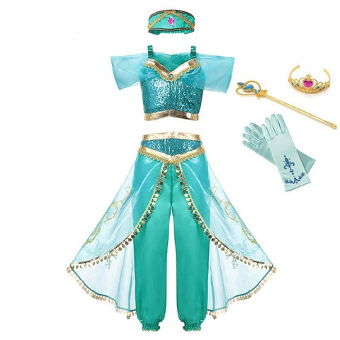 Jasmine Arabian Princess Dress up Costume