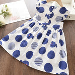Girls Summer Blue Dress