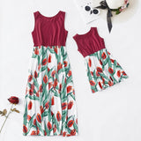 Mother and daughter Maxi Tulip Dress