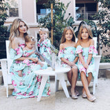 Mommy and me matching floral sundress dress
