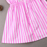 Mother and daughter Strap Bow Collar Knee Length Dress