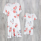 Mommy and Me Floral Print Dress