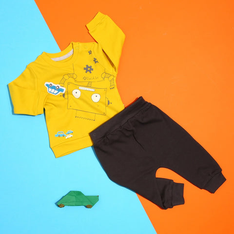 My baby Robot Sweatshirt and Trousers Set