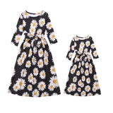 Mommy and Me Beautiful sunflower dress