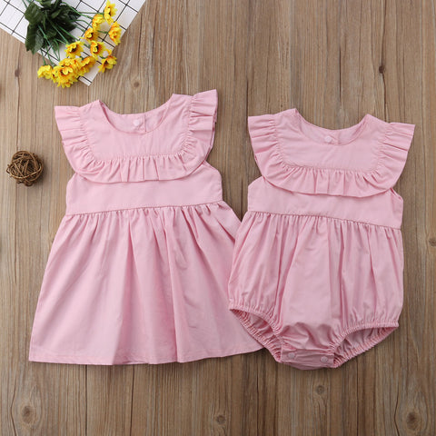Sisters Matching Dress and Romper