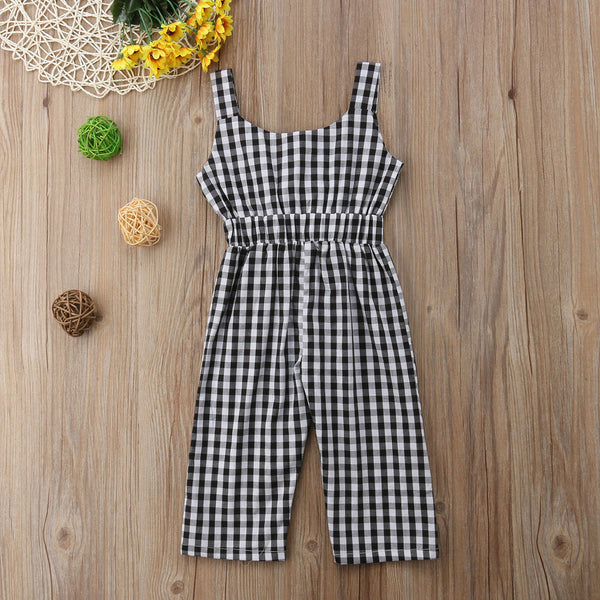 Little Girls Plaid Romper