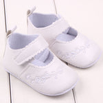 Newborn White Baptism Shoes