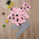 Little Kitty 3 pcs baby girl set