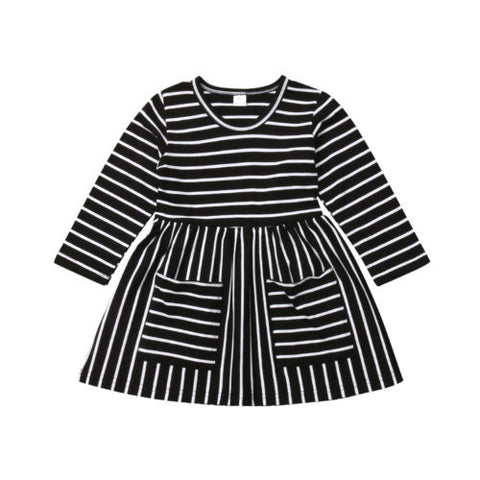 Baby Girl Stripe Dress - Debbie's Kids Boutique