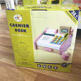 Pink Simulation wooden Cash Register