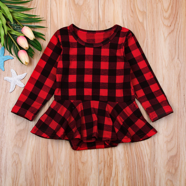 Plaid Skirted Romper