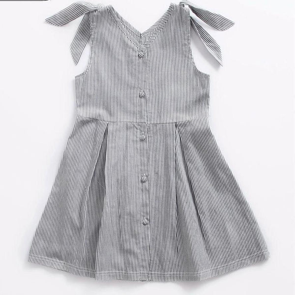 Girls Casual Stripe Dress
