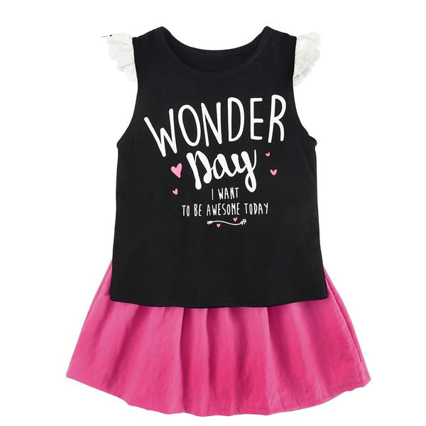 Wonderful day Tee and skirt set