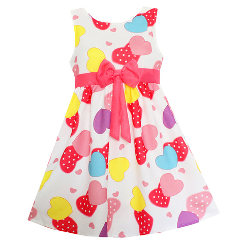 Pretty Heart Girls Dress