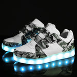 Boy's LED Light Up Shoes with recharge USB Charger