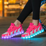 Cotton Candy  Little Girls LED Light up Shoes
