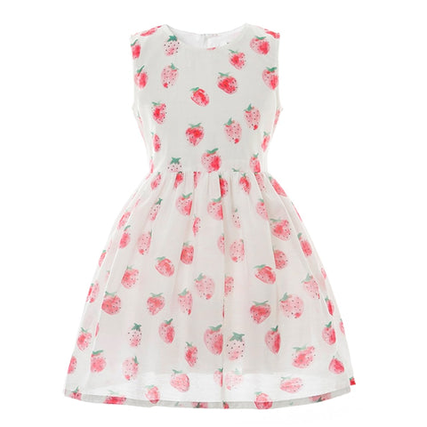 Pretty Strawberry Girl Dress