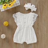 Baby Lace Romper and headband set
