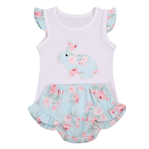 Baby Girls Rabbit Vest+Shorts 2pcs set - Debbie's Kids Boutique