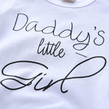 Daddy's Little Girl Tee, Pants and headband set