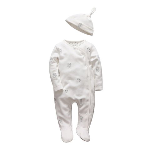 Tender Babies Soft long sleeve Footie and Hat Set