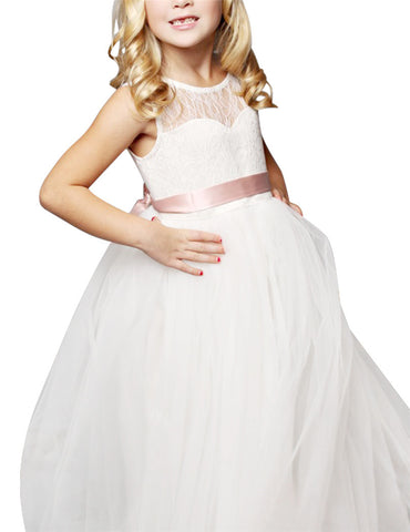 Ivory white Girl's Flower Girl Dresses
