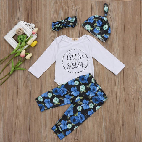 Little Sister 4 pcs romper set - Debbie's Kids Boutique