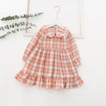 Girl's Spring plaid Dress