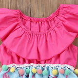 Baby Tassel Ball Romper - Debbie's Kids Boutique