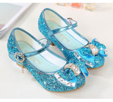 Girls High Heel Butterfly Knot shoes