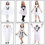 White Ghost Costume Cosplay Robe for Little Boys Girls