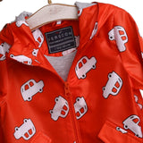 Car printed baby boy Rain Jacket
