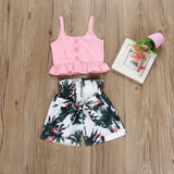 Emma sweet little crop top and shorts set